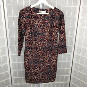 Jude Connally Long Sleeve Dress Size Xsmall